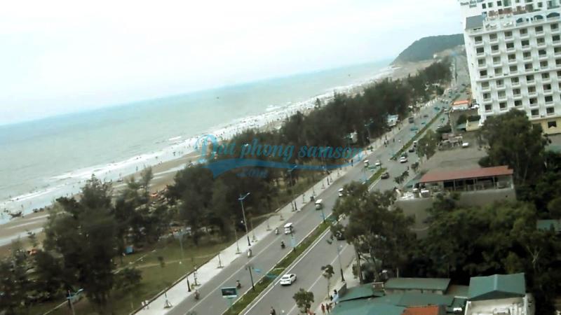 Góc view biển khách sạn bãi tắm D Sầm Sơn