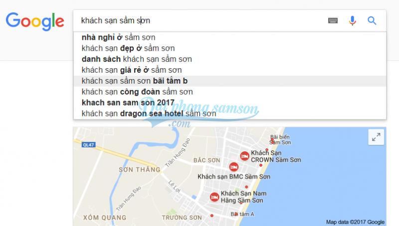 Kết quả tìm kiếm khách sạn Sầm Sơn