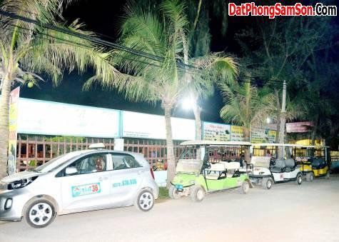 Xe điện đưa đón du khách tại Sầm Sơn - Nhà Hàng Nam Bộ